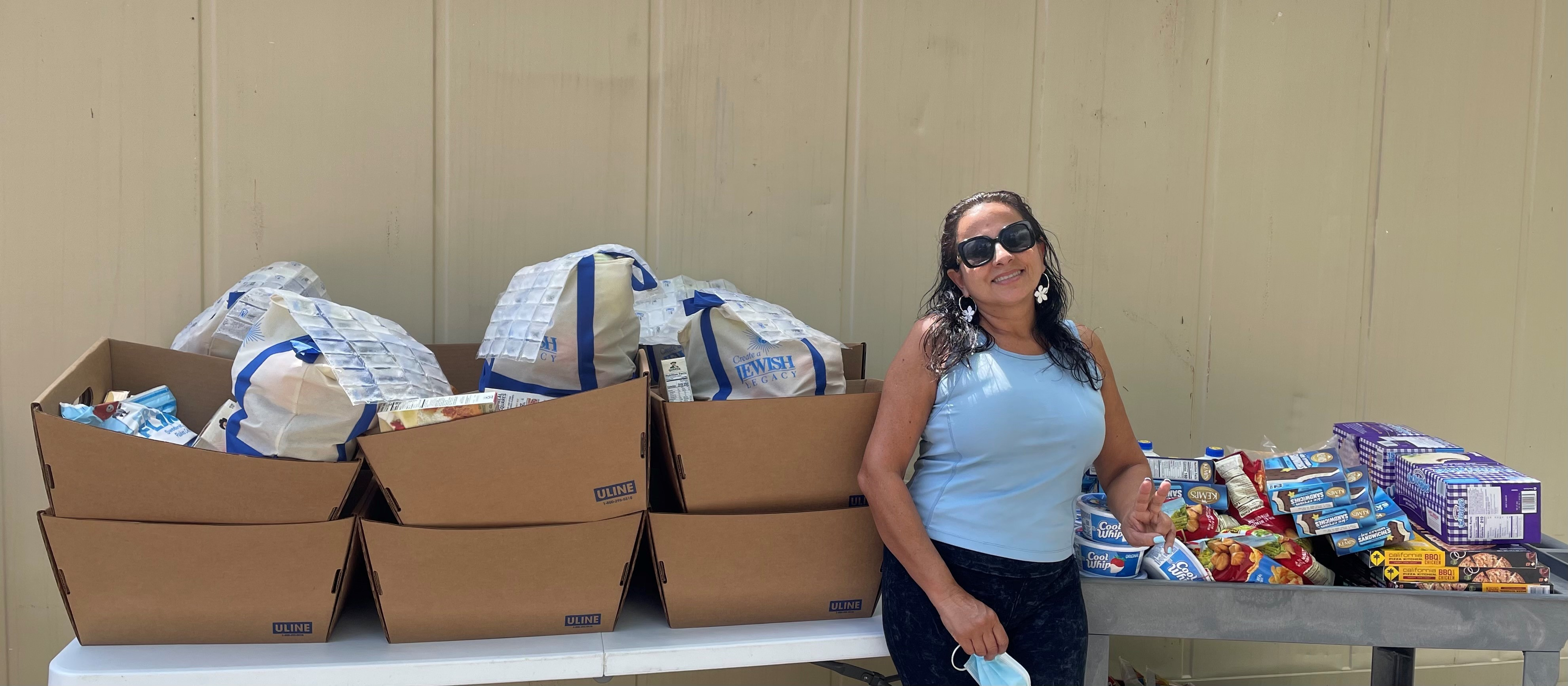 Taxi Driver Delivers Food to Latinx Community Members