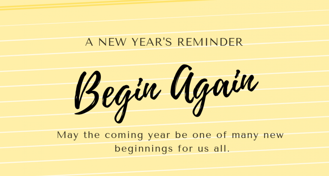 A Message for the New Year