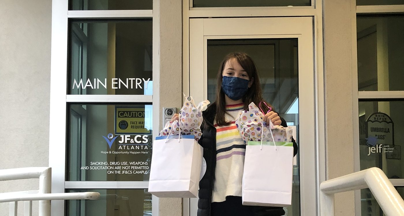 Seventh Grader Brings Purim Goody Bags and Love to the Community